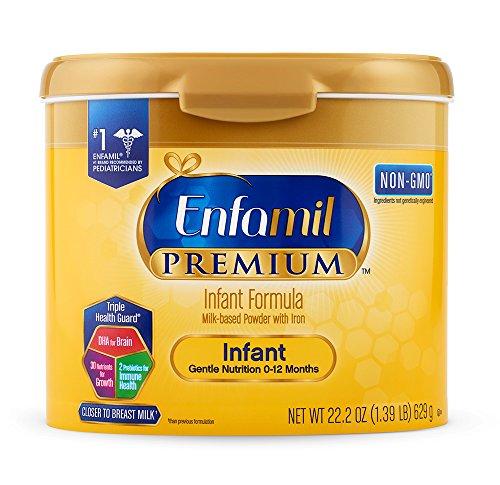 Enfamil PREMIUM Non-GMO Infant Formula - Reusable Powder Tub, 22.2 oz