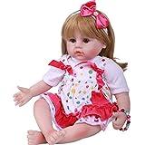 Reborn Baby Reborn Babies Girl 55cm Baby Doll Beautiful Handmade Cute Newborn Baby Doll como Regalo para niños, Realistic Realistic Vinyl Baby Doll