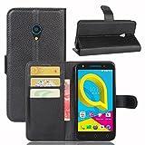 Frlife Hülle für Alcatel U5 4G, Bookstyle Premium