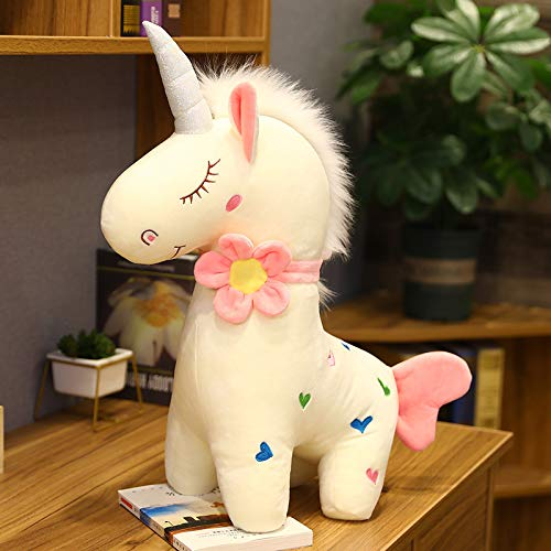 HHIAK666 Standing Fantasy Unicorn Doll Plush Toy, Pillow, Girly Heart Ragdoll 60cm White