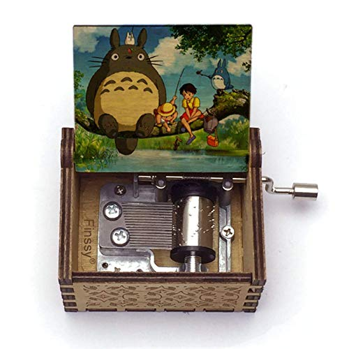 My Neighbor Totoro Music Box Dvd Sets Musical Box Old en Carved Hand Toy Best Gifts Like Birthday HLSJ