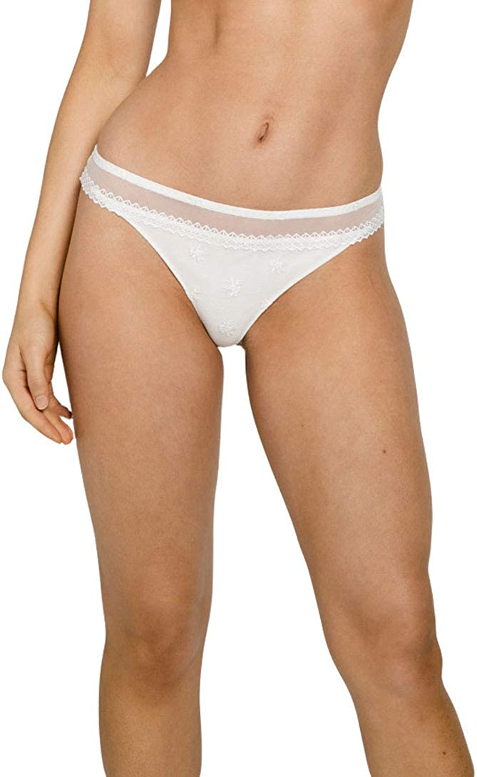 Louisa Bracq Colorado Springs Mall 44060 Women's Max 74% OFF Embroidered Chantilly Thong Panty