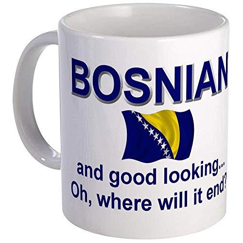 Gut aussehende bosnische Tasse Keramik 11oz Kaffee Tee Tasse Geschenk