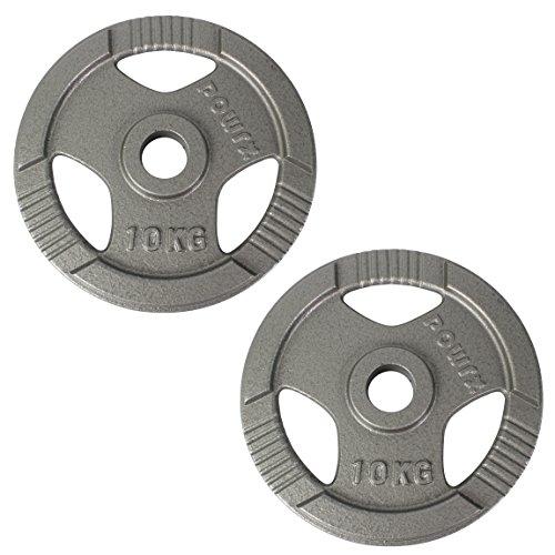 POWRX Olympia Gewicht Hantelscheiben 2,5-40 kg | 2er Set ideal für Kurzhanteln und Langhanteln mit Durchmesser 50 mm (10)