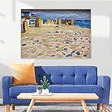 lienzo arte de pared Wassily Kandinsky 《Holland, Sillas de playa》cuadros decoracionlienzos decorativos cuadros decoracion dormitorios decoración pared lienzos decorativos 35x48cm Sin marco