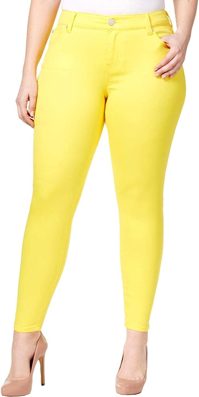 Celebrity Pink Womens Plus Denim colord Skinny Jeans Yellow 20