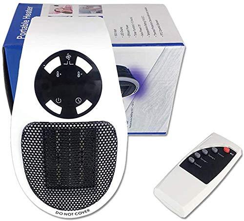Apark Calefactor baño, 500W Heater Estufa Eléctrica con Termostato Ajustable Tiempo Programable de 12 Horas para cuarto de baño, habitación de los niños, dormitorio, oficina Instant Heater