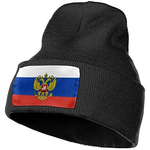 AEMAPE Bandera Rusa Escudo de Armas Ruso Sombrero de Punto Unisex Gorras de Calavera de Moda Sombreros de Tejer