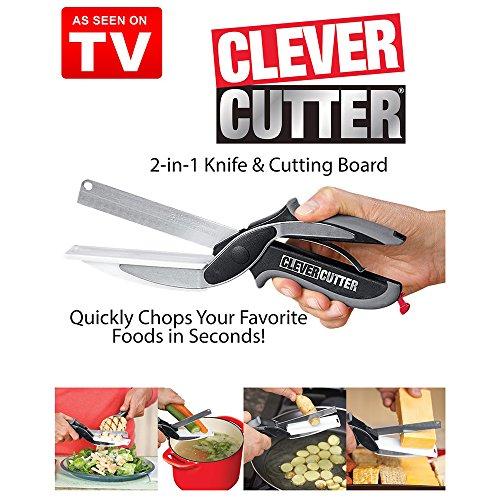 Clever Cutter 1 en 2-Couteau et planche à découper Ciseaux as seen on TV-FREE UK POST