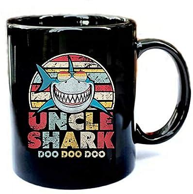 Uncle Shark Doo Doo Doo - Funny Gift Black 11oz Ceramic Mug Gift Coffee Mug