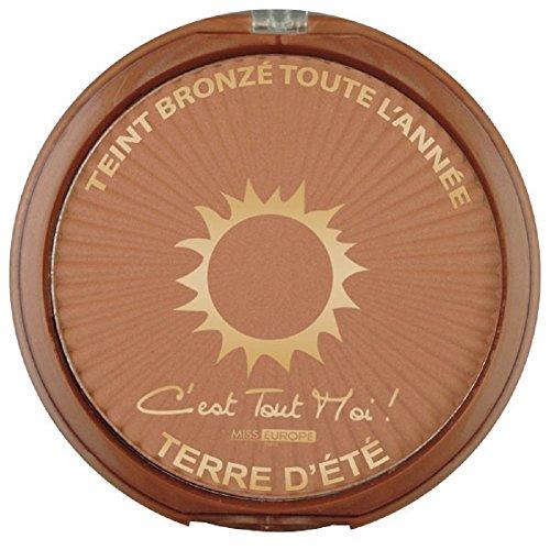 """Poudre de maquillage, poudrier teint bronzé """"soleil bronzé"""", grand modèle 30 Gr"""
