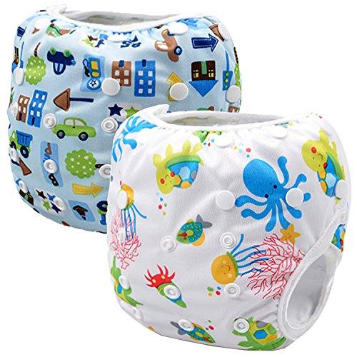 Storeofbaby: wiederverwendbare Schwimmwindel für Babys, für Jungen und Mädchen, 0–3Jahre, 2Stück