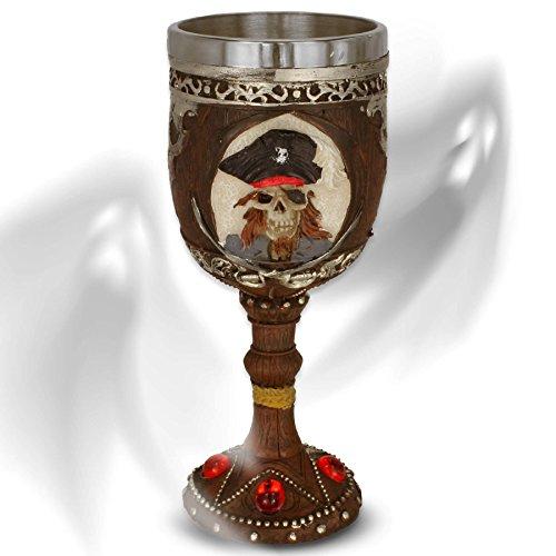 mtb more energy Cáliz Captain's Brew - Imitación a Madera con un cráneo del Pirata - bucaneros fantasía fantástico Caribe