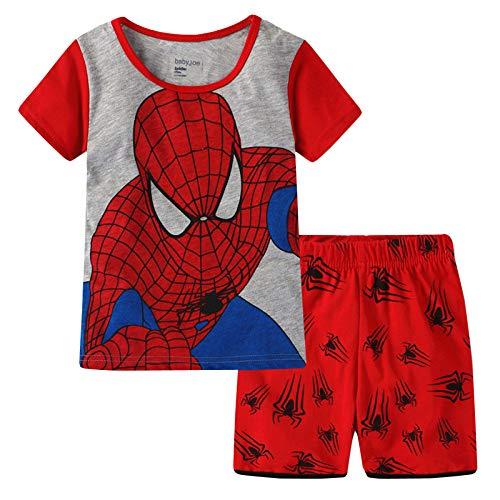 CDREAM Spiderman Manga Corta Pijamas Conjunto Ropa De Dormir Pijamas Conjunto Tamaño Para Niños 2-7 Años Pjs 95% Algodón