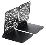 EasyPAG Desktop Metal Bookends 6.5 Inch Book Stand,Black