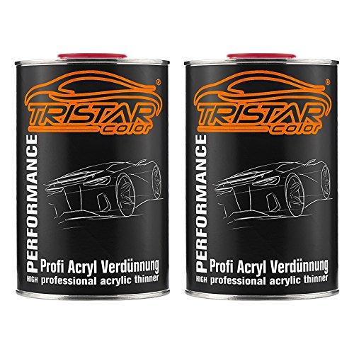 TRISTARcolor 2 Liter 1K / 2K Acrylverdünner Acrylverdünnung für Autolack Basislack Klarlack Grundierung