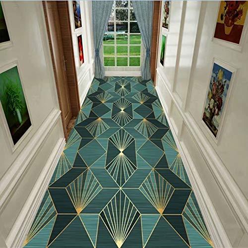 alfombra De Pasillo Antideslizante Verde, Cocina/Salón/Dormitorio, 60cm / 80cm / 100cm / 120cm de Ancho (Size : 80x200cm)