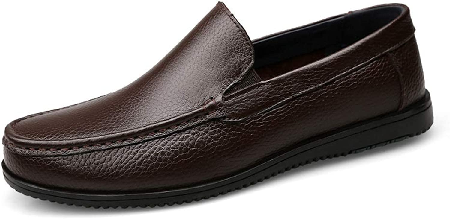 RONGLINGXING 2019 Mode Casual Driving Loafers for Herren Niedrige, Flexible, atmungsaktive Stiefelmokassins (Hollow Vamp is Conventional) (Farbe   Dark braun Hollow, Größe   38 EU)