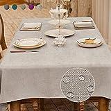 BALCONY & FALCON Tovaglia Antimacchia, Tovaglia Rettangolare Tovaglia Impermeabile Tovaglia Elegante per Natale Compleanno 140x240