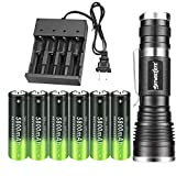 Best 18650 Batteries - High 2000 Lumen LED 18650 Flashlight Tactical Review