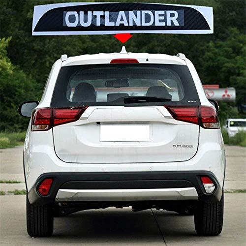 N/A Auto Carbon Fiber Bremsleuchte Aufkleber, für Mitsubishi Outlander 2016 2017 2018 2019 Hoch Montierte Hintere Bremslichtabdeckung Abziehbilder Dekoration Zubehör