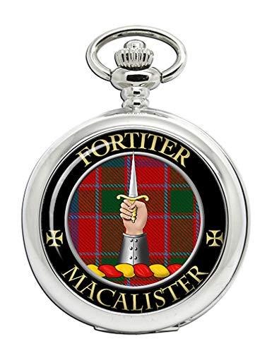 MacArthur moderno escocés Clan escudo Full Hunter reloj de bolsillo