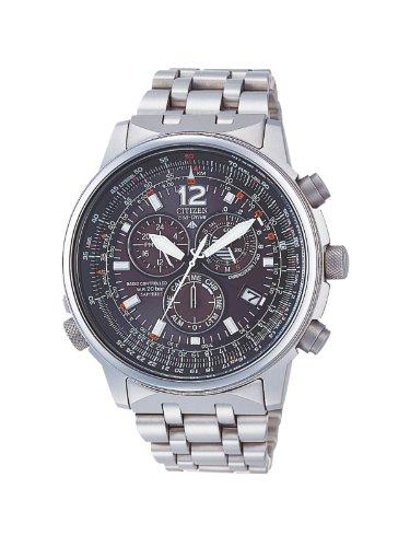 orologio da polso radiocontrollato Citizen Crono Pilot Radiocontrollato Titanio AS4050-51E - Orologio da polso Uomo