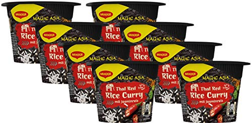 Maggi Asia Terrine - Thai Red Rice Curry mit Jasminreis, 8er Pack (8 x 45 g)