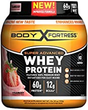Body Fortress Super Advanced Whey Protein Powder, Gluten Free, Strawberry, 2 Pound (Packaging May Vary)