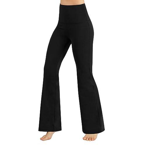 b33553693bd8d ODODOS Power Flex Boot-Cut Yoga Pants Tummy Control Workout Non See-Through  Bootleg