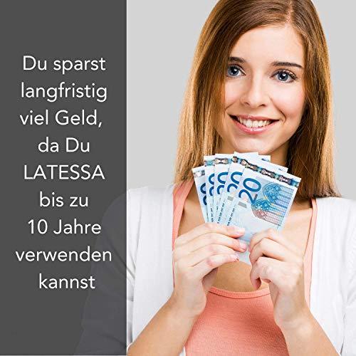 LATESSA Menstruationstasse – Made in Germany – geruchlos – farbstofffrei – medizinisches Silikon – Alternative zu Tampons und Binden – Menstruationstassen als nachhaltige Monatshygiene – Größe 1 – klein - 9
