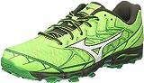 Mizuno Wave Hayate 4, Zapatillas de Running Hombre, Multicolor (Greengecko/White/forestnight 01), 42 EU