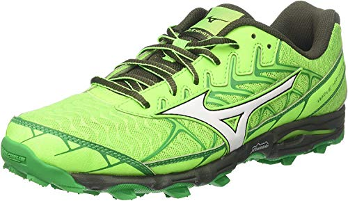 Mizuno Wave Hayate 4, Zapatillas de Running para Hombre, Multicolor (Greengecko/White/forestnight 01), 42 EU