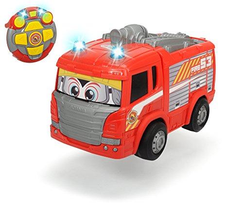 Dickie Toys 203814031 - RC Happy Scania Fire Engine, funkferngesteuertes Feuerwehrauto, für Kleinkinder ab 2 Jahren, 27 cm*
