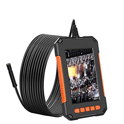 QAZXCV Endoscopio Industrial De 8 Mm, Mini Inspección De Cable A Prueba De Agua HD1080P Cámara USB Endoscopio Uderscope 8 LED Lights LED 4.3 Pantalla, Endoscopio De Mano De Video Digital,5M