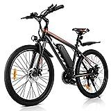 VIVI 26'VTT électrique 250W 36V 10.4Ah Batterie Amovible vélo de Banlieue 25MPH 21 Vitesses Engrenages Adulte e-Bike (Orange)