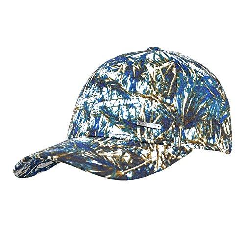 Kenmont Frauen Dame Mädchen Frühlings Herbst 100% Baum Wolle Blume Druck Visier Hut Baseball Cap (Blue)