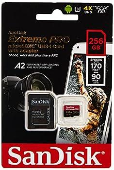 SanDisk Extreme Pro Micro SDXC UHS-I U3 A2 V30 Memory Card  256GB