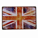 Henson British Flag Nostalgic Art Beautiful Traditional Tin Sign Metal Painted Modern Wall Decoration Art Poster Game Room House Rules Street Sign