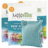 MOSO NATURAL Air Purifying Bag for The Refrigerator. Freezer and Fridge Odor Eliminator. More Powerful Than Baking Soda. (3) Individually Sealed Bags