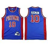 XH-CHEN Los Hombres de Camiseta de la NBA Detroit Pistons # 10 Dennis Rodman Bordadas Retro Malla de Baloncesto Ropa de Entrenamiento, Unisex Camiseta sin Mangas del Chaleco,M(175cm/65~75kg)