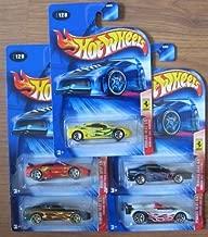 Hot Wheels 2004 Ferrari Heat COMPLETE SET: 360 Modena, F355 Challenge, 456M, 550 Maranello, 333 SP