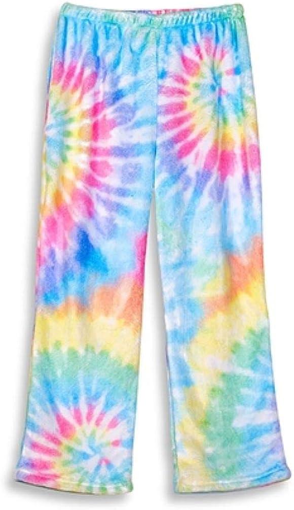 TOP TRENZ Tie Dye Delight Fuzzy Lounge Pants Size only 6/6x