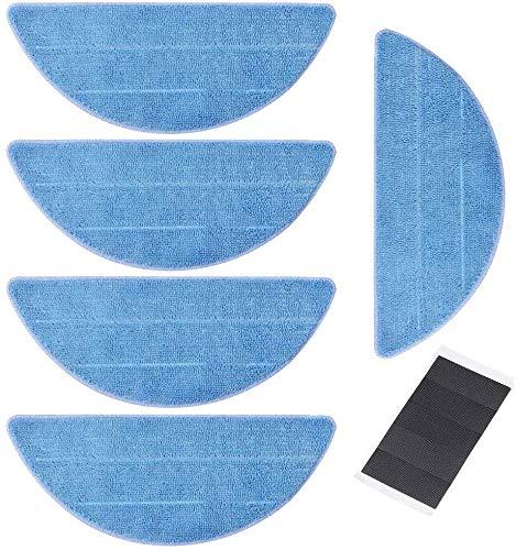 Preisvergleich Produktbild Hannets 5 Ersatztücher kompatibel mit Medion MD18501 I Hochwertiges Ersazset für Roboterstaubsauger Saug und Wisch Roboterstaubsauger Medion MD 18501