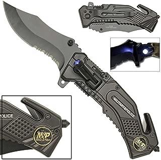 LED Flashlight Tactical Rescue Pocket Knife M & P