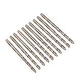 10 stücke M35 HSS Cobalt Bohrer HSS-CO Bohrer Set Spiralbohrer 1-5mm zum Bohren auf Edelstahl(1.5mm)
