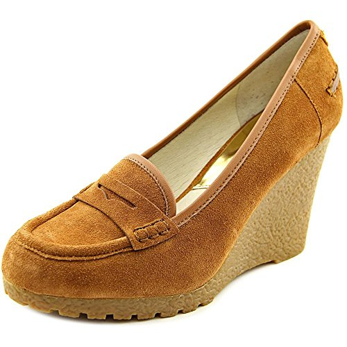 Michael Kors Rory Suede Mocassins Wedge en Cuir