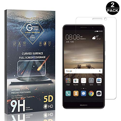 Bear Village® Verre Trempé pour Huawei Mate 9, Anti Rayures Protection en Verre Trempé Écran pour Huawei Mate 9, Dureté 9H, Ultra Transparent, 2 Pièces