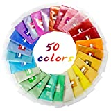 Mica Powder, POZEAN 50 Colors Mica Powder for Lip Gloss, Epoxy Resin Dye, Resin Glitter, Soap Making, Painting, Bath Bomb DIY, Candle Making, Slime DIY, Nail Polishes and More (0.18oz/5g per Bag)