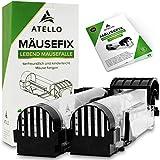 Atello® Mäusefix - Mausefalle Lebend [2er Set] - sehr zuverlässiger Auslösemechanismus -...